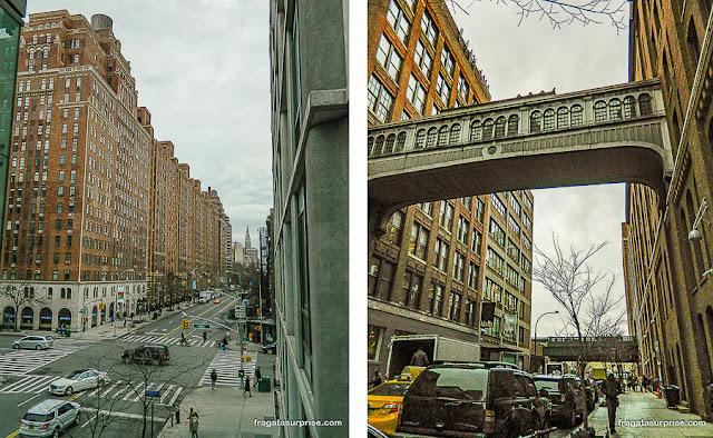 Acessos ao parque High Line, Nova York