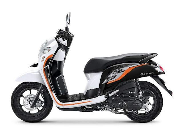 Warna Baru Honda Scoopy 2019 Sporty White
