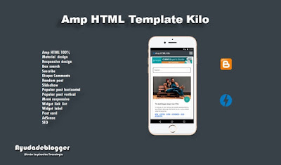 download template blogger amp kilo