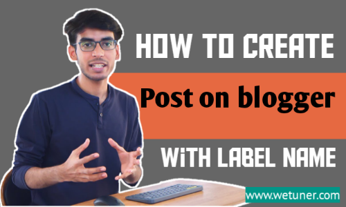 How to create new post on blogspot with label name