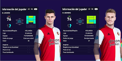 PES 2021 Faces Bryan Linssen & Mark Diemers by Francisco1507