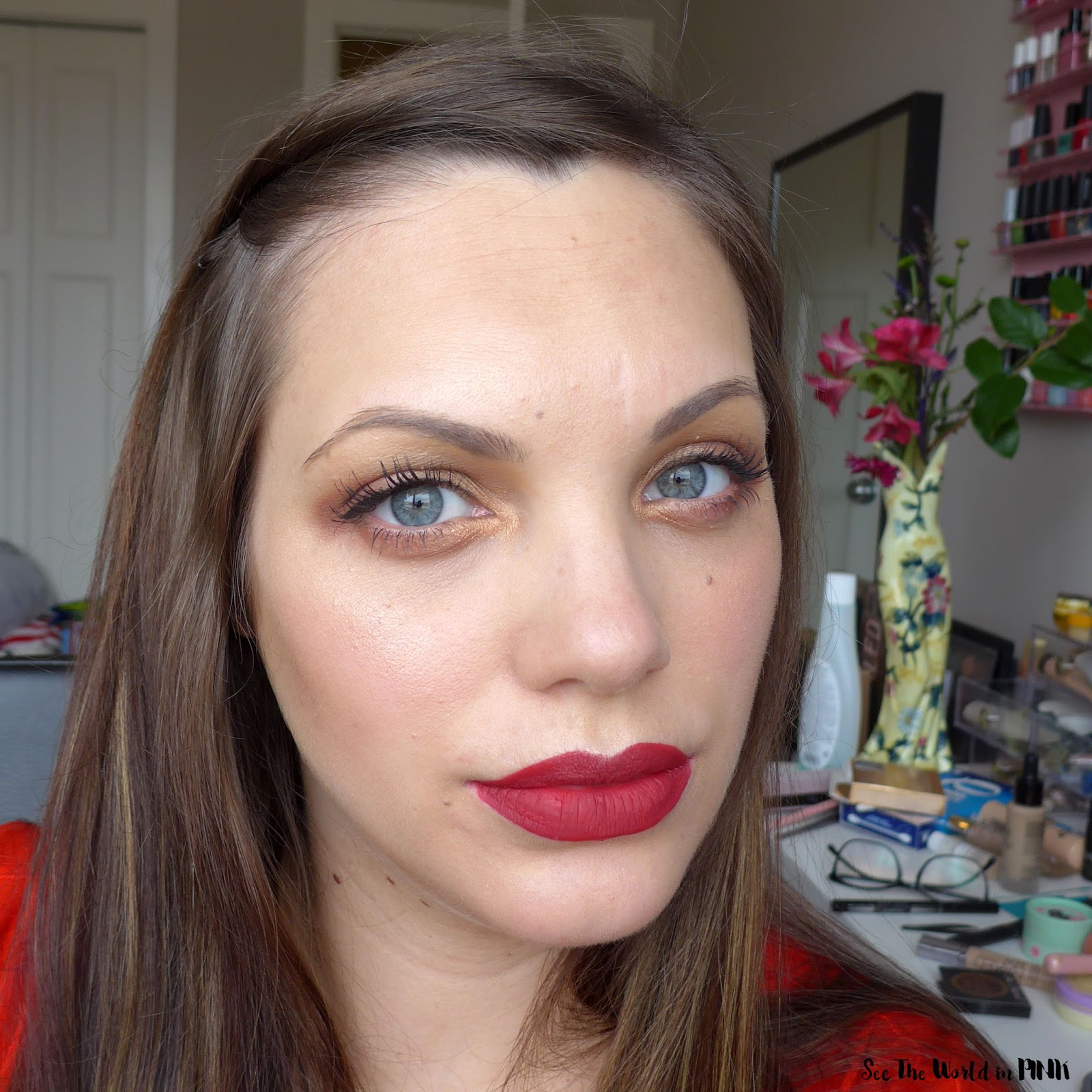 "Cougar Beauty Liquid Lipstick ""Rioja"" - Swatch, Makeup Look and Review!"