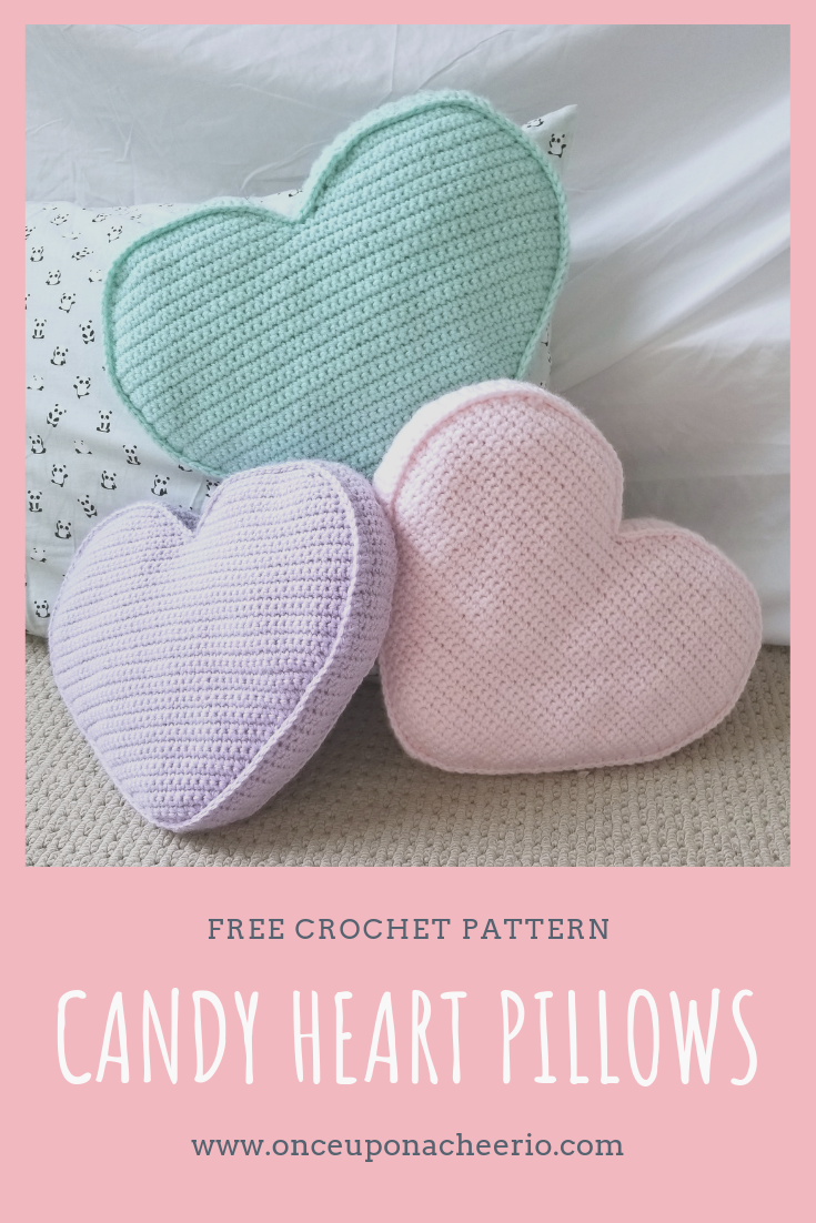 Candy Heart Pillow FREE Crochet Pattern