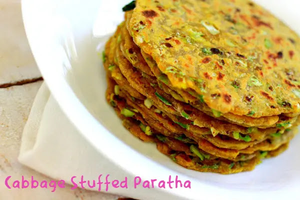 Easy to make at home Healthy Cabbage Stuffed Paratha