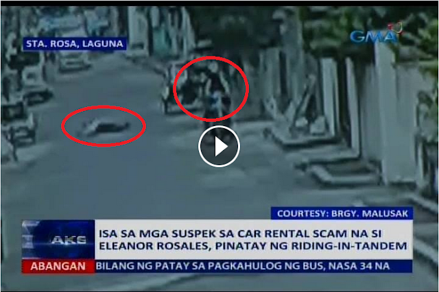 WATCH: SUSPEK NG CAR RENTAL SCAM BINARIL NG RIDING-IN-TANDEM, SAPOL SA C4M3RA