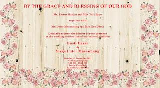 Struktur undangan pernikahan Kristen terbaru