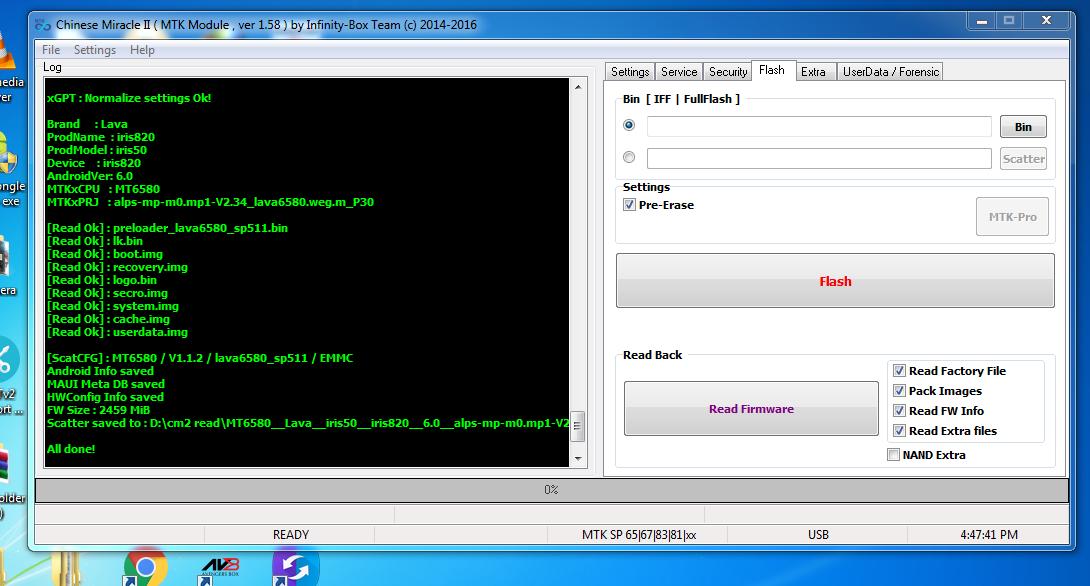 Lava Iris 50 H001 S122 Frp Reset Firmware Flash File Tested
