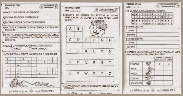 Confira nesta postagem Atividades com Alfabeto - Educação Infantil pronta para imprimir.