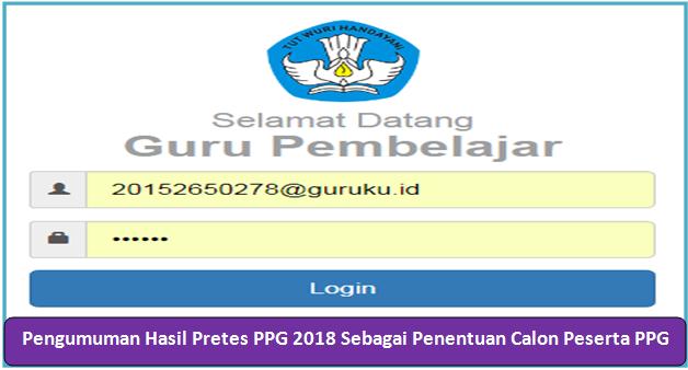 Pengumuman Hasil Pretes PPG 2018