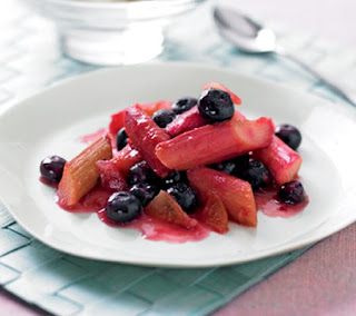 rhubarb, ginger and blueberry compote recipe