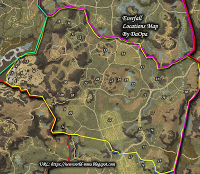 everfall locations map