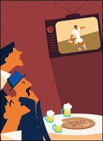 Men Watch TV