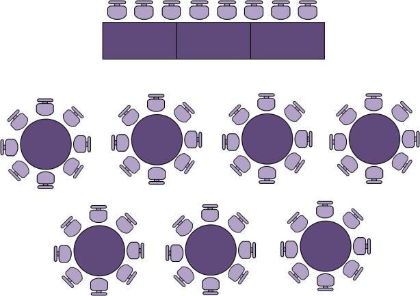 Distribución de las mesas en el convite - Foto: www.flowery81ncx.wordpress.com