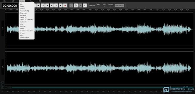 Audiomass : un éditeur audio en ligne gratuit