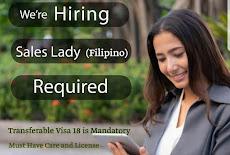 شركة توظيف تعلن عن VISA وذلك لحاجتها لوظيفة سيدة مبيعات Filipino