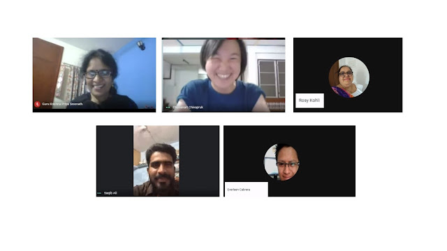 Google Local Guides from India, Thailand, Peru, the US, Malaysia and others joined the virtual meet - up on Indonesia's Independence