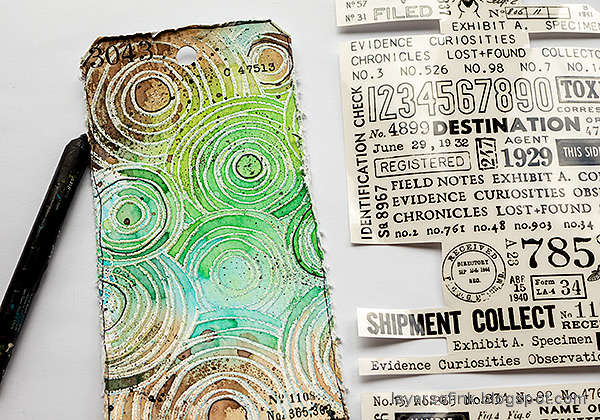 Layers of ink - Doodle Tag Tutorial by Anna-Karin Evaldsson.