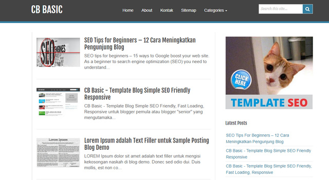 CB Basic SEO Friendy Responsive Blogger Templates