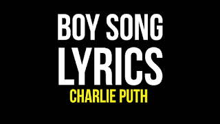Boy song lyrics