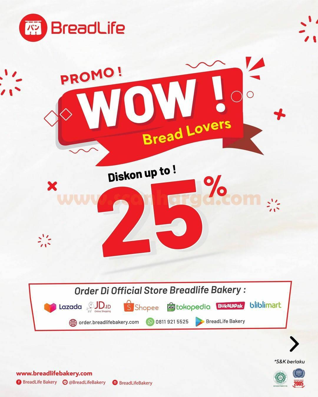 Promo Breadlife Terbaru – Paket Roti WOW Diskon hingga 25%