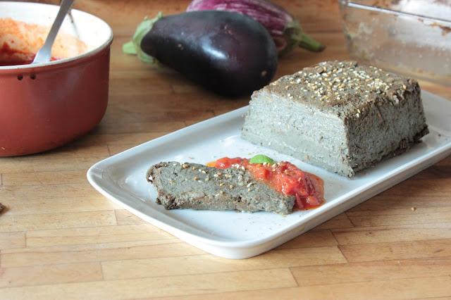 Terrine d'aubergine au zaatar (vegan)