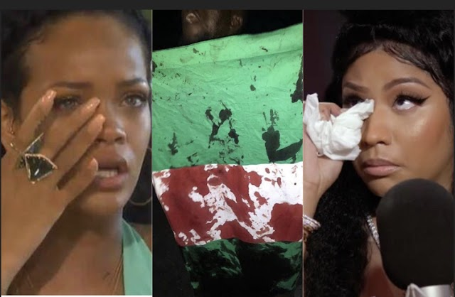 """My Heart Is Broken For Nigeria"" - Rihanna, Nicki Minaj React To Lekki Toll Massacre"