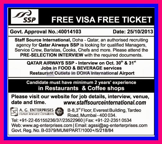 Free Visa & Free Ticket For Qatar Airways - Gulf Jobs for ...