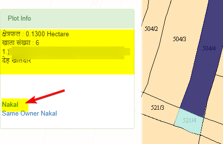 nakal-of-plot-information-in-bhu-naksha-map-bhulekh-rajasthan