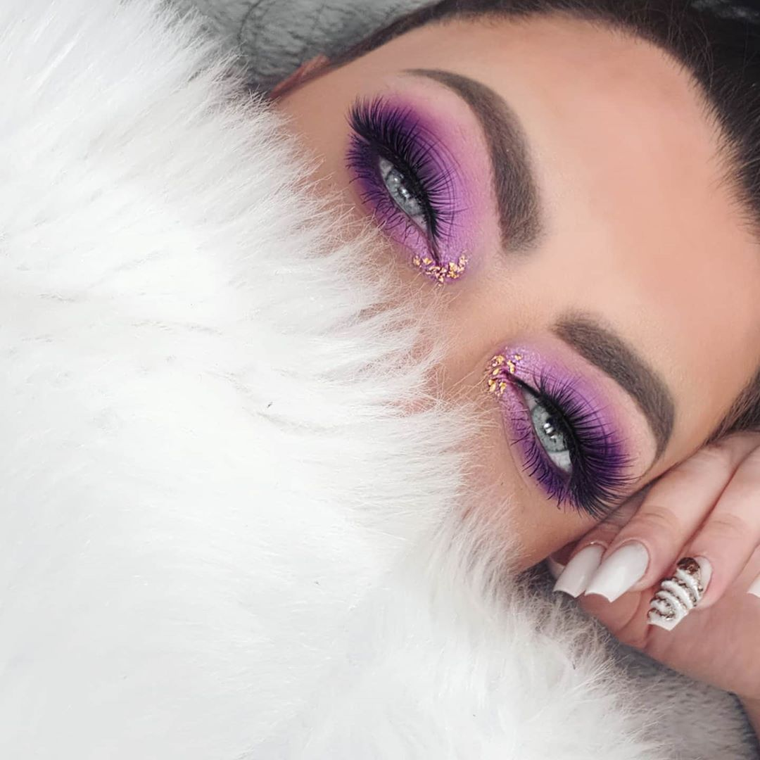 Makeup purple