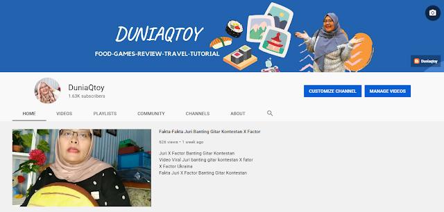 Duniaqtoy Youtube channel