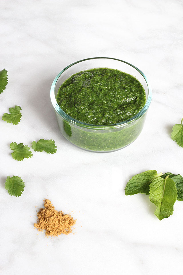 Simple mint chutney recipe for mild mouths