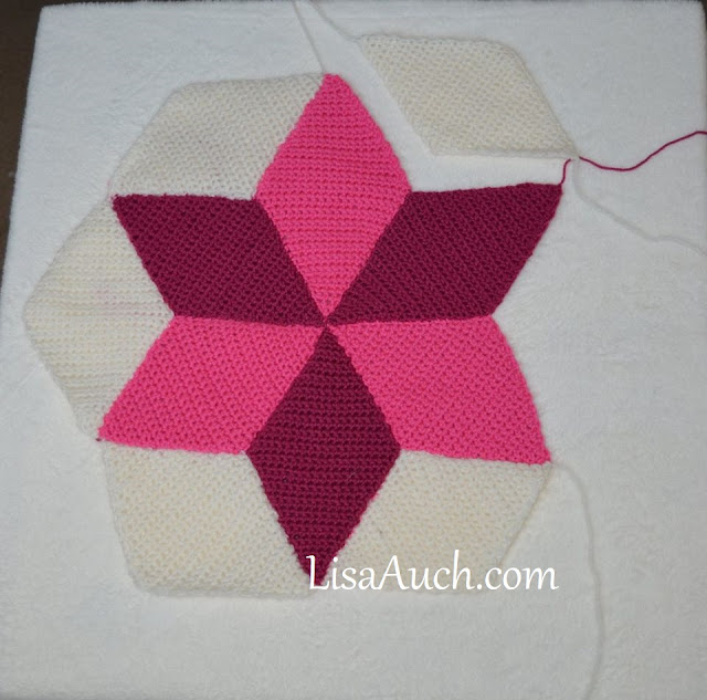 diamond scrap yarn blanket free crochet pattern