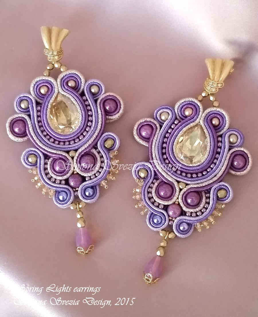 perline e bijoux quotspring lightsquot nuovi orecchini in soutache