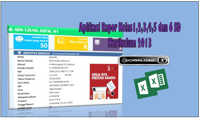 Aplikasi Rapor Kurikulum 2013 Kelas 1,2,3,4,5 dan 6 Semester 2
