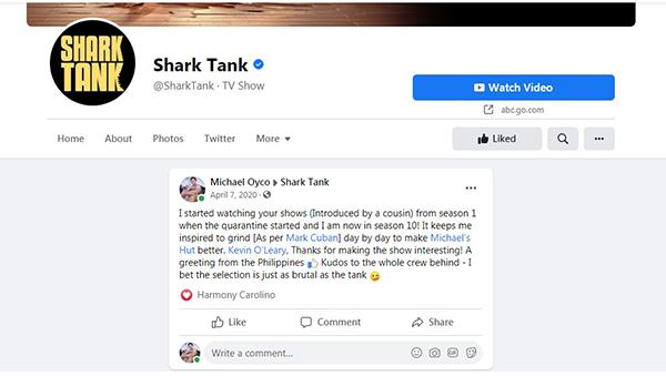 Shark Tank x Michael's Hut