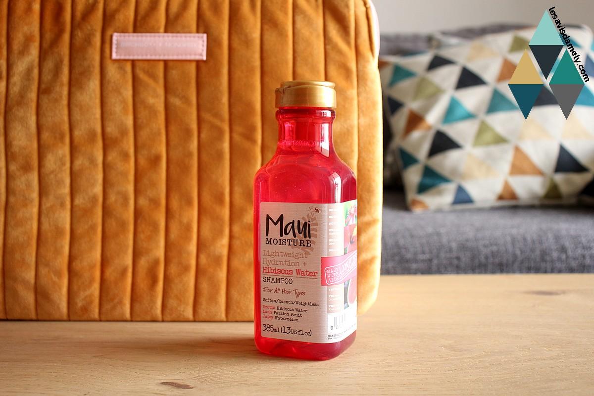 avis et test shampooing hibiscus water Maui Moisture