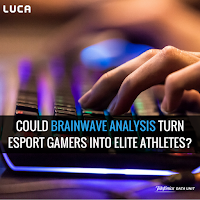 Canva image of post about brainwave analysis in eSports