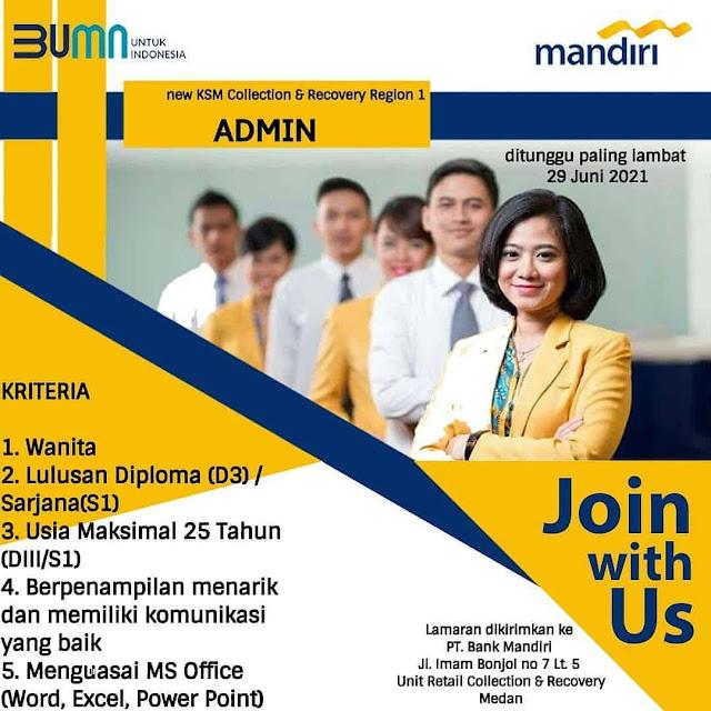 Lowongan Kerja Medan Juli 2021 D3/S1 Di PT Bank Mandiri ...