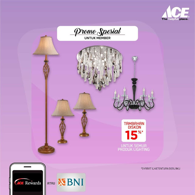 #AceHardware - #Promo Diskon 15% Lampu Dekorasi Untuk Member Atau Pakai Kartu BNI