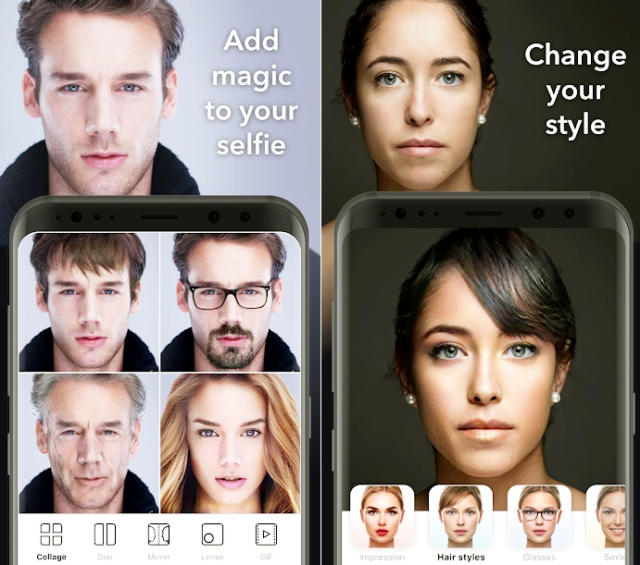 FaceApp is a mobile application for iOS and Android developed by Russian company Wireless Lab which uses artificial intelligence to generate highly realistic transformations of faces in photographs.