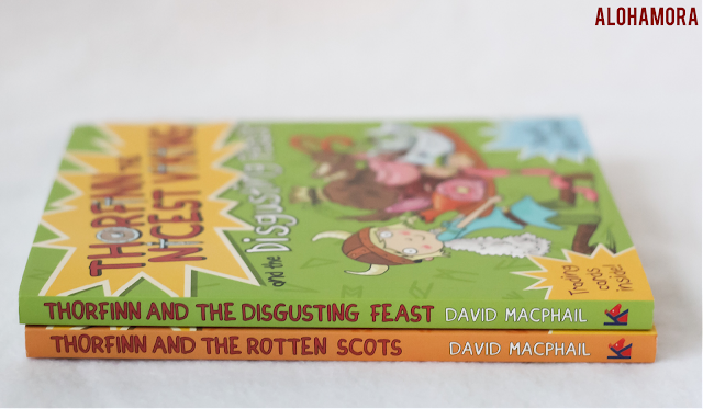 Thorfinn the Nicest Viking and the Disgusting Feast by David MacPhail is a great book series for those that love Diary of a Wimpy KId.  Illustrations, silliness, interactive quizzes, and a great plot driven storyline with some good messages taught. Alohamora Open a Book http://alohamoraopenabook.blogspot.com/