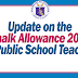UPDATE: Chalk Allowance 2019 for Public Teachers
