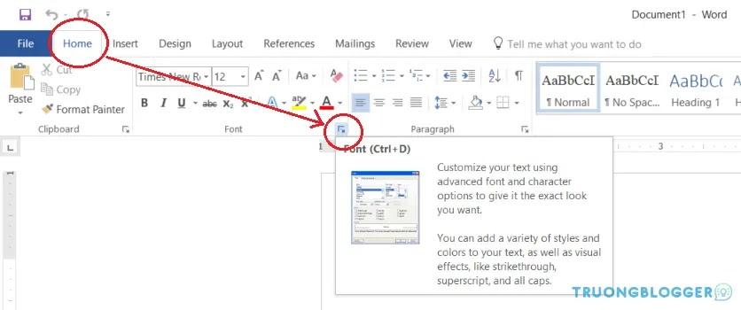 Thiết lập Font chữ mặc định trong Microsoft Word