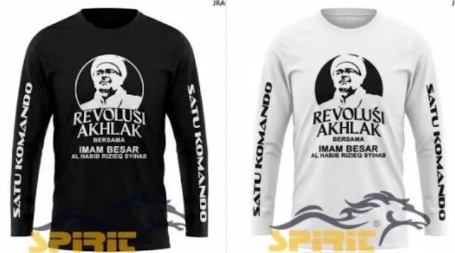 Habis Baliho, Terbitlah Gerakan Kaus Bergambar Habib Rizieq