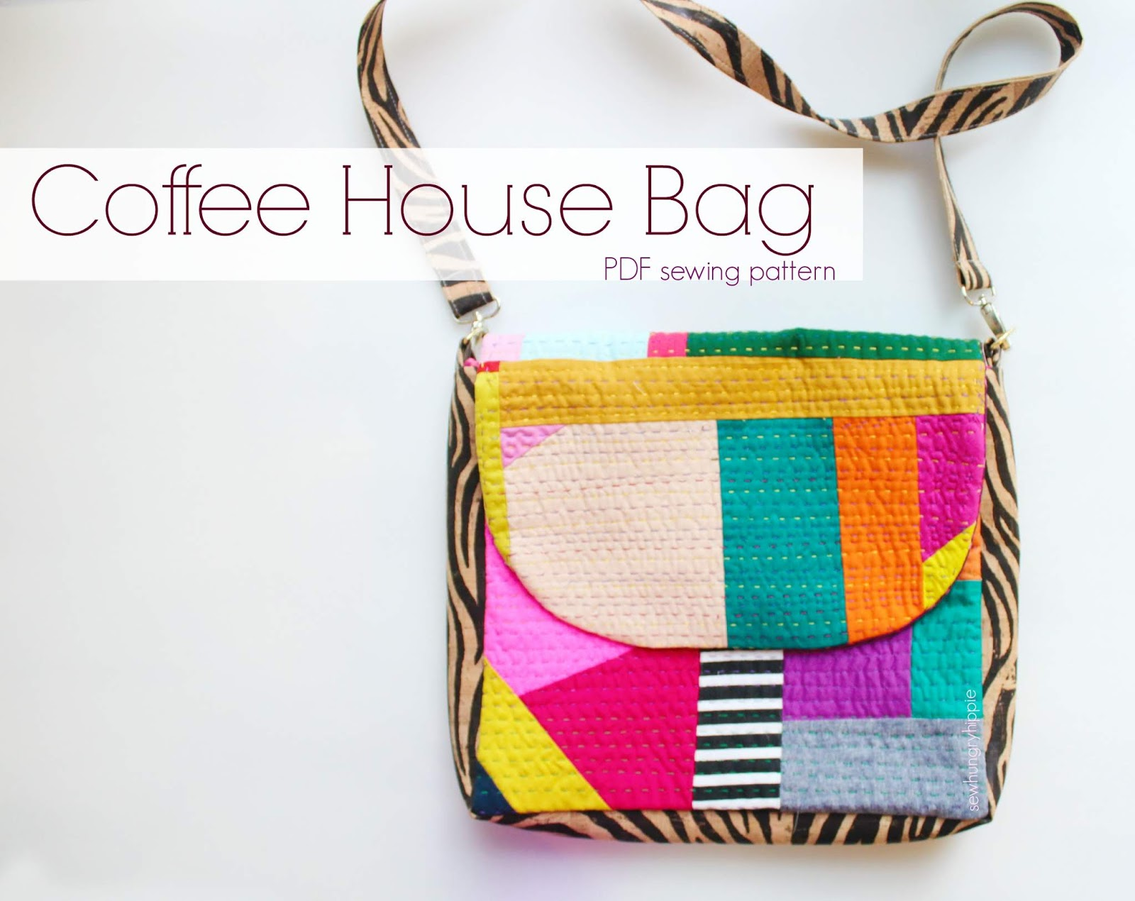 sewhungryhippie: The Coffee House Bag sewing pattern NEW!