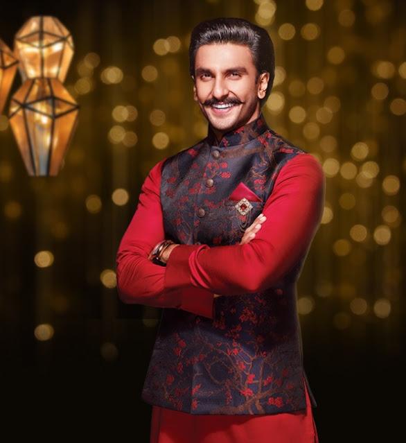 Ranveer Singh Style Kurta Pyjama With Jacket Festival Wear