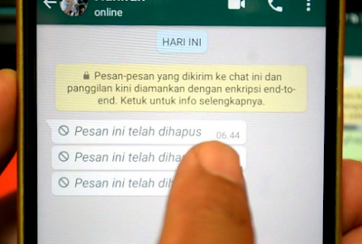 Chat Whatsapp terhapus