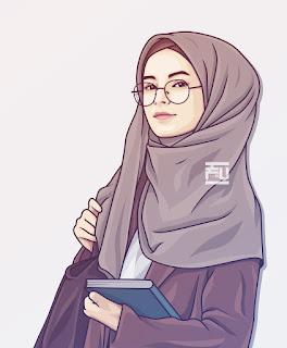 muslimah girl cartoon hijabs art