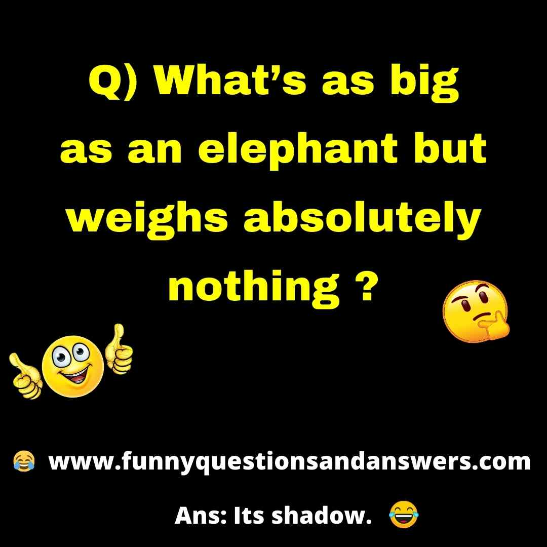 Funny short questions and answers