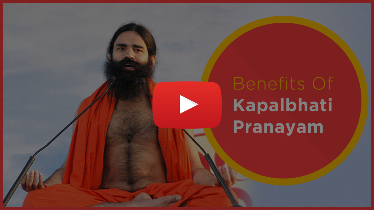 Kapalbhati Pranayama Benefits - Baba Ramdev Pranayam - Youtube Video Thumb